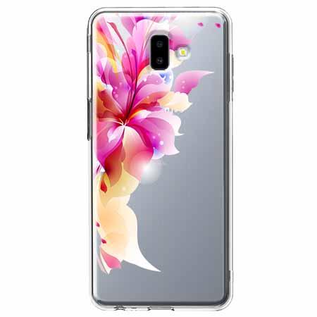 Etui na Galaxy J6 Plus - Bajeczny kwiat.