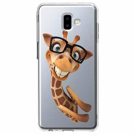 Etui na Galaxy J6 Plus - Żyrafa w okularach.