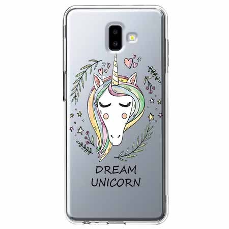 Etui na Galaxy J6 Plus - Dream unicorn - Jednorożec.