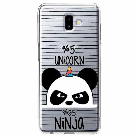 Etui na Galaxy J6 Plus - Ninja Unicorn - Jednorożec.