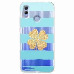 Etui na Huawei Honor 10 Lite - Złota  koniczyna.