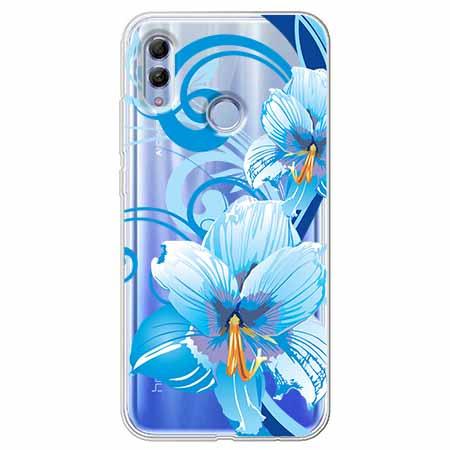 Etui na Huawei Honor 10 Lite - Niebieski kwiat północy.