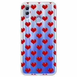 Etui na Huawei Honor 10 Lite - Czerwone serduszka.