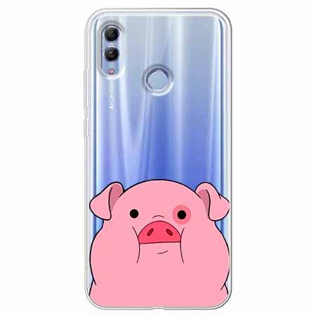 Etui na Huawei Honor 10 Lite - Słodka różowa świnka.