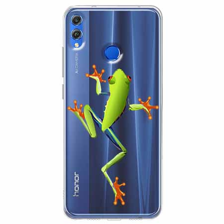 Etui na Huawei Honor 8X - Zielona żabka.