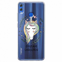Etui na Huawei Honor 8X - Dream unicorn - Jednorożec.