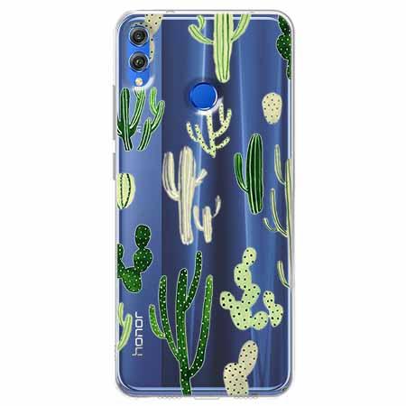 Etui na Huawei Honor 8X - Kaktusowy ogród.