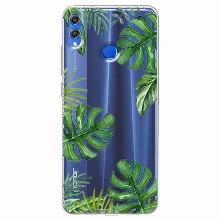 Etui na Huawei Honor 8X - Zielone liście palmowca