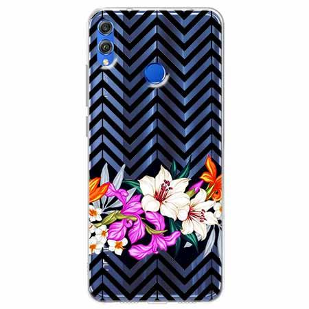 Etui na Huawei Honor 8X - Kwiatowy bukiet.
