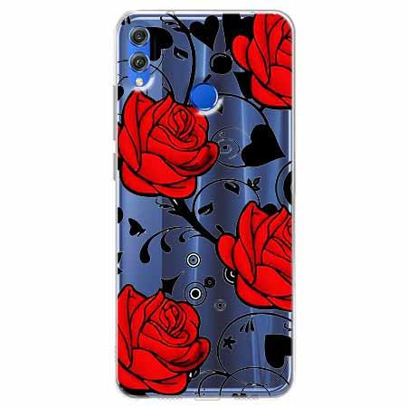 Etui na Huawei Honor 8X - Czerwone róże.