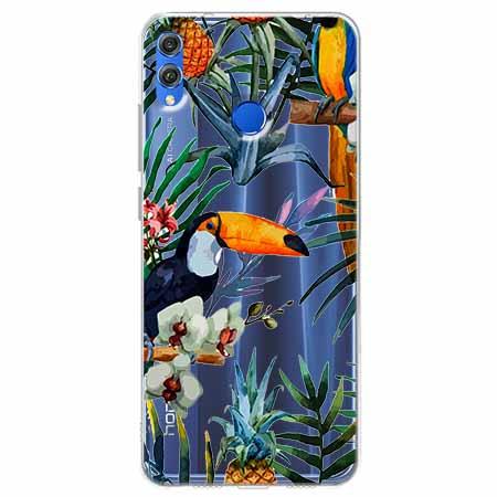 Etui na Huawei Honor 8X - Egzotyczne tukany.