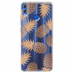 Etui na Huawei Honor 8X - Złote ananasy.