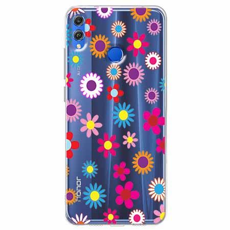 Etui na Huawei Honor 8X - Kolorowe stokrotki.