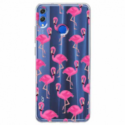 Etui na Huawei Honor 8X - Różowe flamingi.