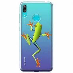 Etui na Huawei P Smart 2019 - Zielona żabka.