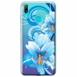 Etui na Huawei P Smart 2019 - Niebieski kwiat północy.
