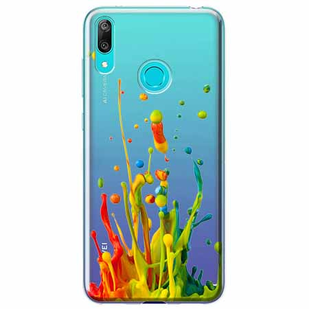 Etui na Huawei P Smart 2019 - Kolorowy splash.