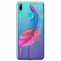 Etui na Huawei P Smart 2019 - Watercolor piórko.
