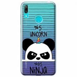 Etui na Huawei P Smart 2019 - Ninja Unicorn - Jednorożec.