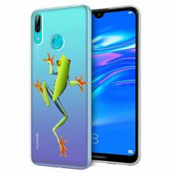 Etui na Huawei Y7 2019 - Zielona żabka.