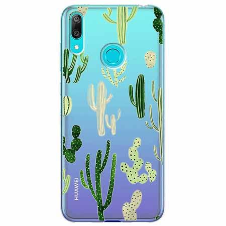 Etui na Huawei Y7 2019 - Kaktusowy ogród.
