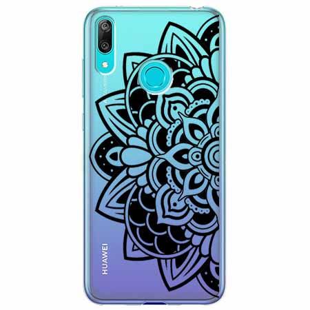 Etui na Huawei Y7 2019 - Kwiatowa mandala.