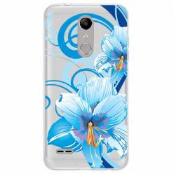 Etui na LG K11 - Niebieski kwiat północy.