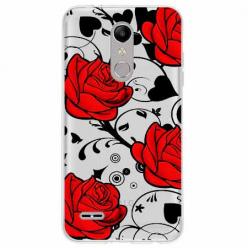 Etui na LG K11 - Czerwone róże.