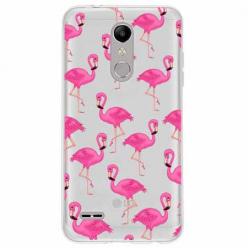 Etui na LG K11 - Różowe flamingi.