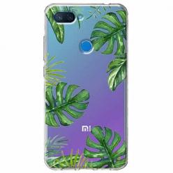 Etui na Xiaomi Mi 8 Lite - Zielone liście palmowca