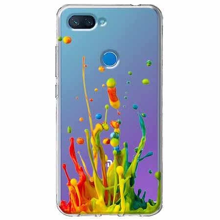Etui na Xiaomi Mi 8 Lite - Kolorowy splash.
