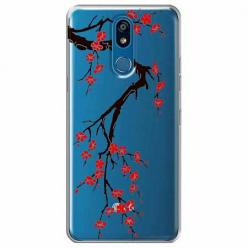 Etui na LG K40 - Krzew kwitnącej wiśni.