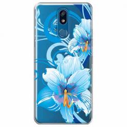 Etui na LG K40 - Niebieski kwiat północy.