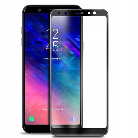 Galaxy A8 2018 hartowane szkło 5D Full Glue - Czarny