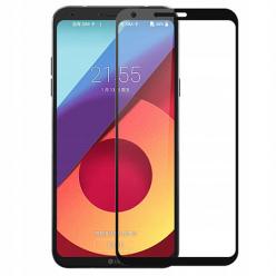 LG Q6 hartowane szkło 5D Full Glue - Czarny
