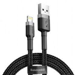 Baseus kabel Lightning iPhone Nylonowy 1m - Czarny