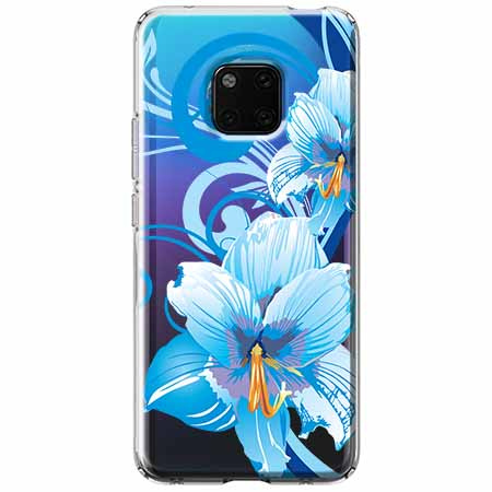 Etui na Huawei Mate 20 Pro - Niebieski kwiat północy.