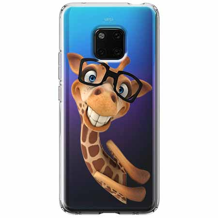Etui na Huawei Mate 20 Pro - Żyrafa w okularach.
