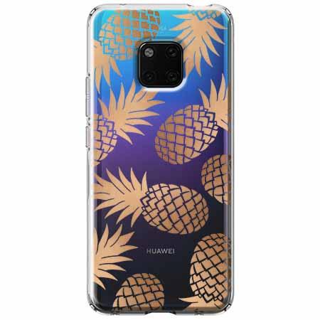 Etui na Huawei Mate 20 Pro - Złote ananasy.