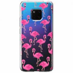 Etui na Huawei Mate 20 Pro - Różowe flamingi.