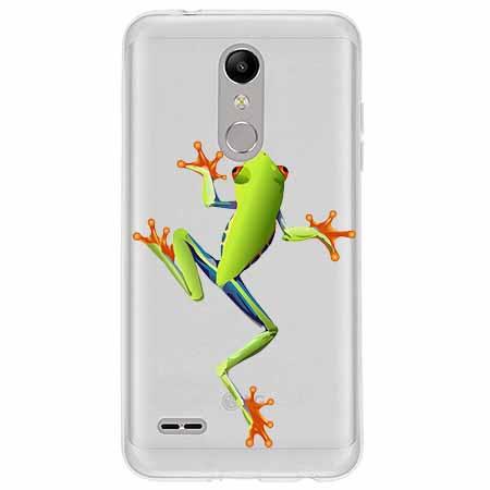 Etui na LG K10 2018 - Zielona żabka.