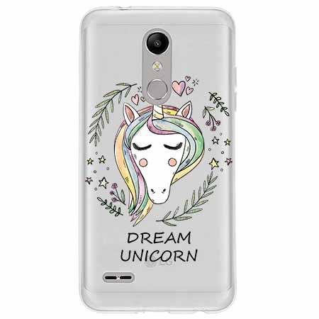Etui na LG K10 2018 - Dream unicorn - Jednorożec.