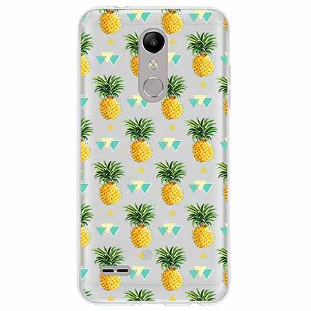 Etui na LG K10 2018 - Ananasowe szaleństwo.