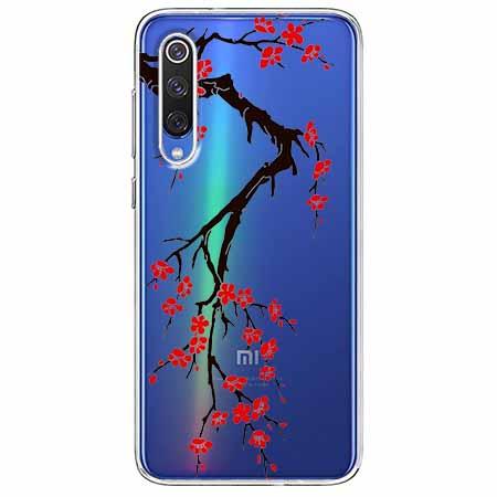 Etui na Xiaomi Mi 9 - Krzew kwitnącej wiśni.