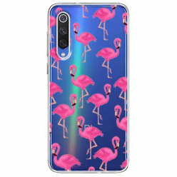 Etui na Xiaomi Mi 9 - Różowe flamingi.