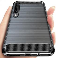 Etui na Galaxy A70 bumper Neo KARBON - Czarny.