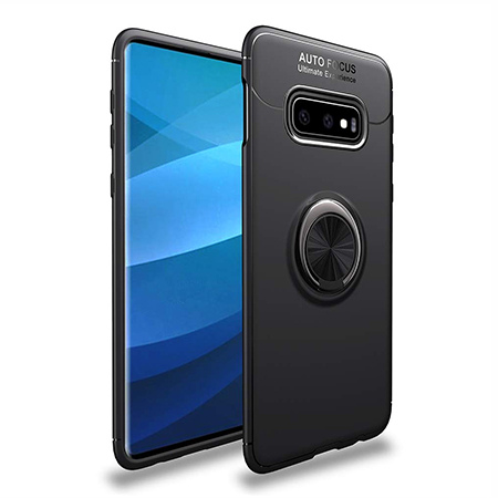 Etui na Samsung Galaxy S10e - Pancerne Magnet Ring - Czarny.