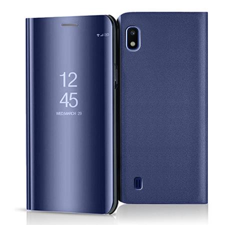 Etui na Samsung Galaxy A10 - Flip Clear View z klapką - Granatowy.