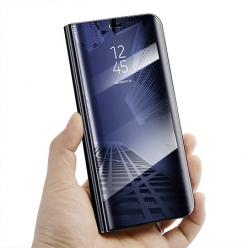 Etui na Samsung Galaxy A20e - Flip Clear View z klapką - Granatowy.