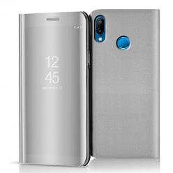 Etui na Huawei P20 Lite - Flip Clear View z klapką - Srebrny.